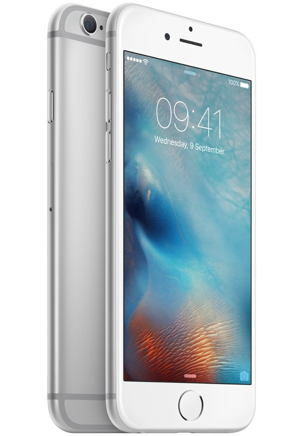 Mobilní telefon Apple iPhone 6s 128GB stříbrný Mobilní telefon, dotykový, 4,7, 128GB, iOS 9, stříbrný MKQU2CN/A