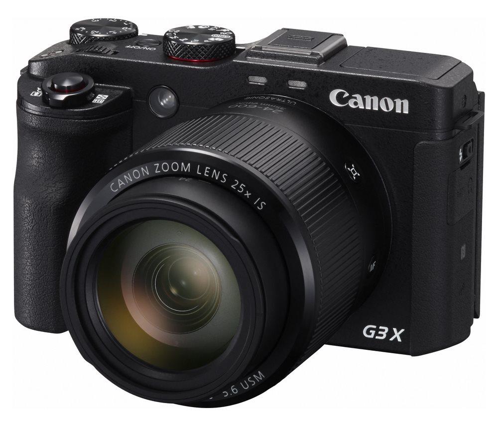Digitální fotoaparát Canon PowerShot G3 X Digitální fotoaparát, 20 MPix, 25x zoom, 3,2 LCD, Wi-Fi, Stabilizace, Full HD, Černý 0106C002