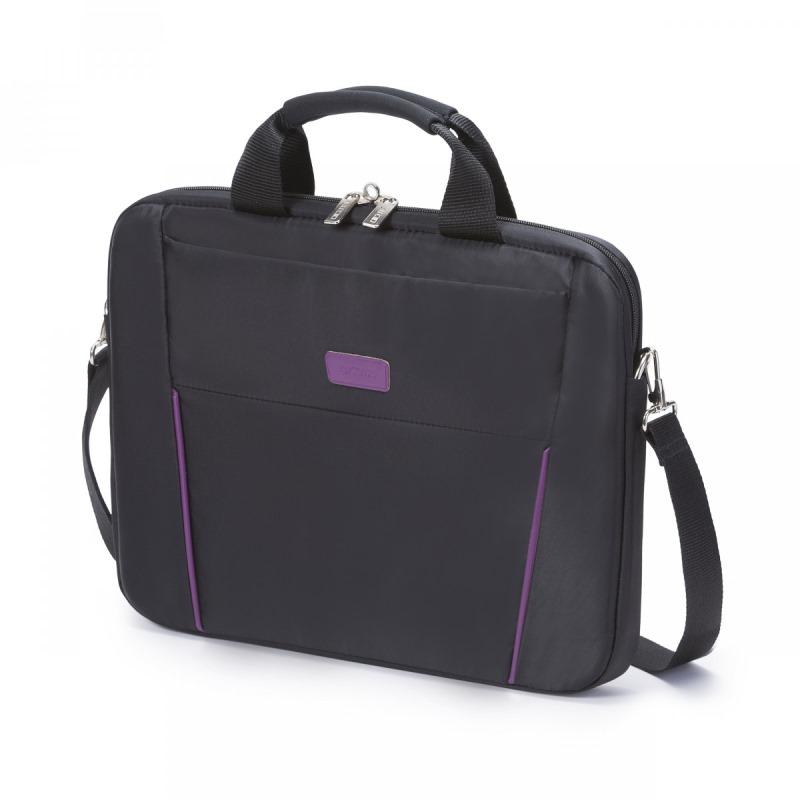 """Brašna DICOTA Slim Case BASE 14-15,6"""" černá Brašna, pro notebook, 14-15,6"""", černo-fialová"""