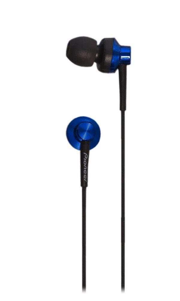 Sluchátka PIONEER SE-CL522-L Sluchátka, do uší, uzavřená, 10Hz-20kHz, 16ohm, 100mW, 104dB, 2.5g, měnič 9.4mm, kabel 1.2m, modrá SE-CL522-L