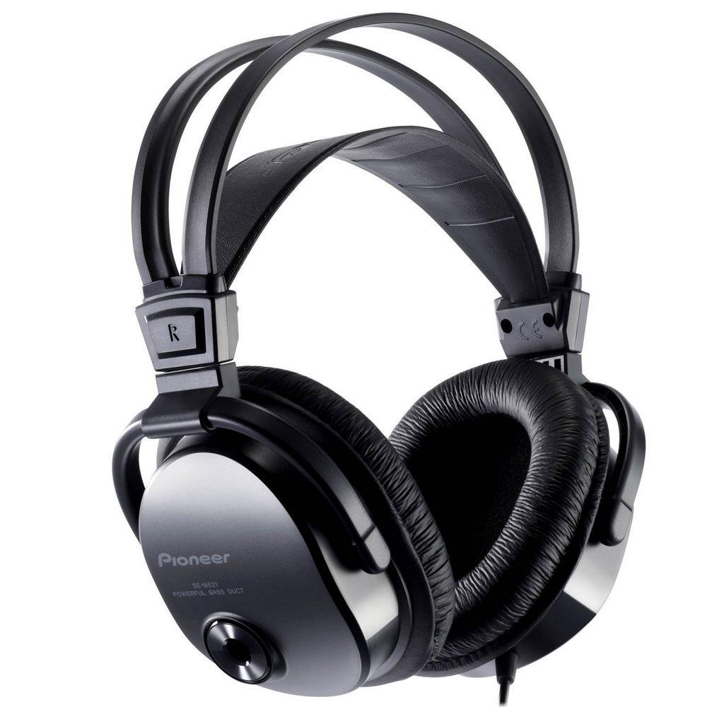 Sluchátka PIONEER SE-M521 Sluchátka, náhlavní, uzavřená, 7Hz-40kHz, 32ohm, 1200mW, 97dB, 220g, měnič 40mm, kabel 3.5m, černá SE-M521