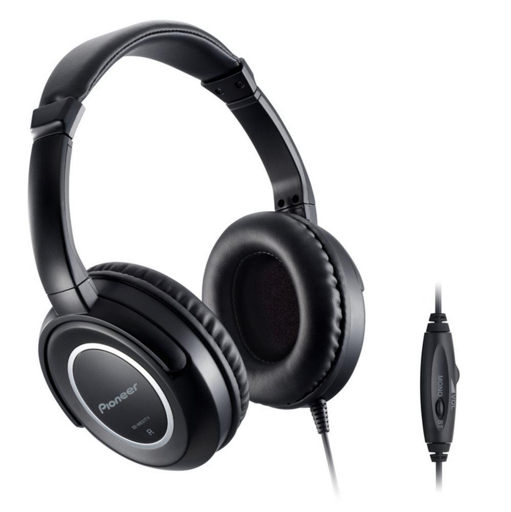 Sluchátka PIONEER SE-M631TV Sluchátka, náhlavní, uzavřená, 8Hz-25kHz, 32ohm, 1000mW, 98dB, 155g, měnič 40mm, kabel 5m, černá SE-M631TV