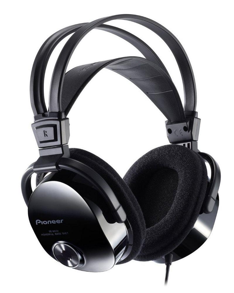 Sluchátka PIONEER SE-M531 Sluchátka, náhlavní, uzavřená, 7Hz-40kHz, 32ohm, 1500mW, 100dB, 215g, měnič 40mm, kabel 3.5m, černá SE-M531