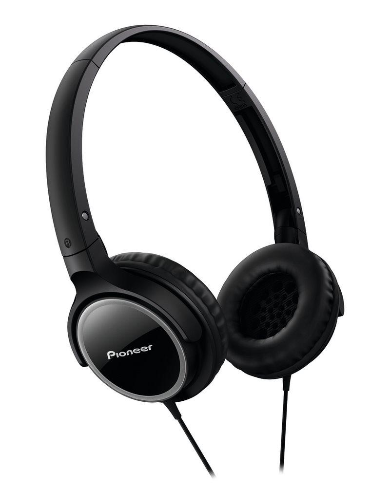 Sluchátka PIONEER SE-MJ512-K Sluchátka, náhlavní, uzavřená, sklápěcí, 11Hz-24kHz, 32ohm, 500mW, 103dB, 110g, měnič 40mm, kabel 1.2m, černá SE-MJ512-K