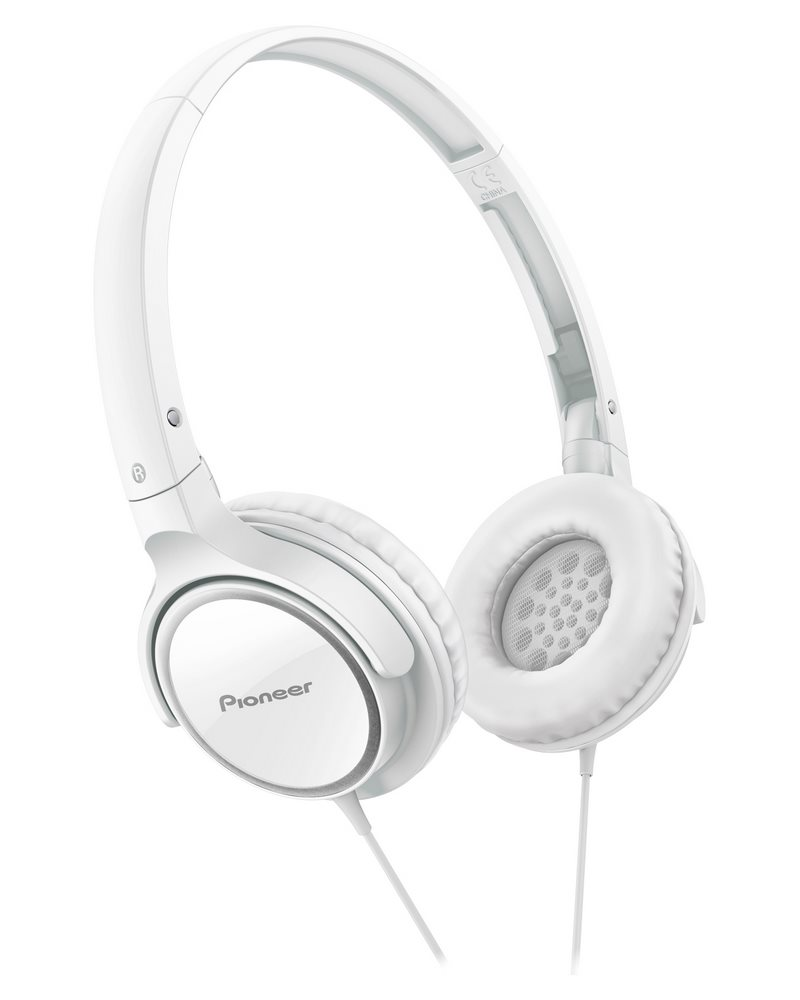 Sluchátka PIONEER SE-MJ512-W Sluchátka, náhlavní, uzavřená, sklápěcí, 11Hz-24kHz, 32ohm, 500mW, 103dB, 110g, měnič 40mm, kabel 1.2m, bílá SE-MJ512-W