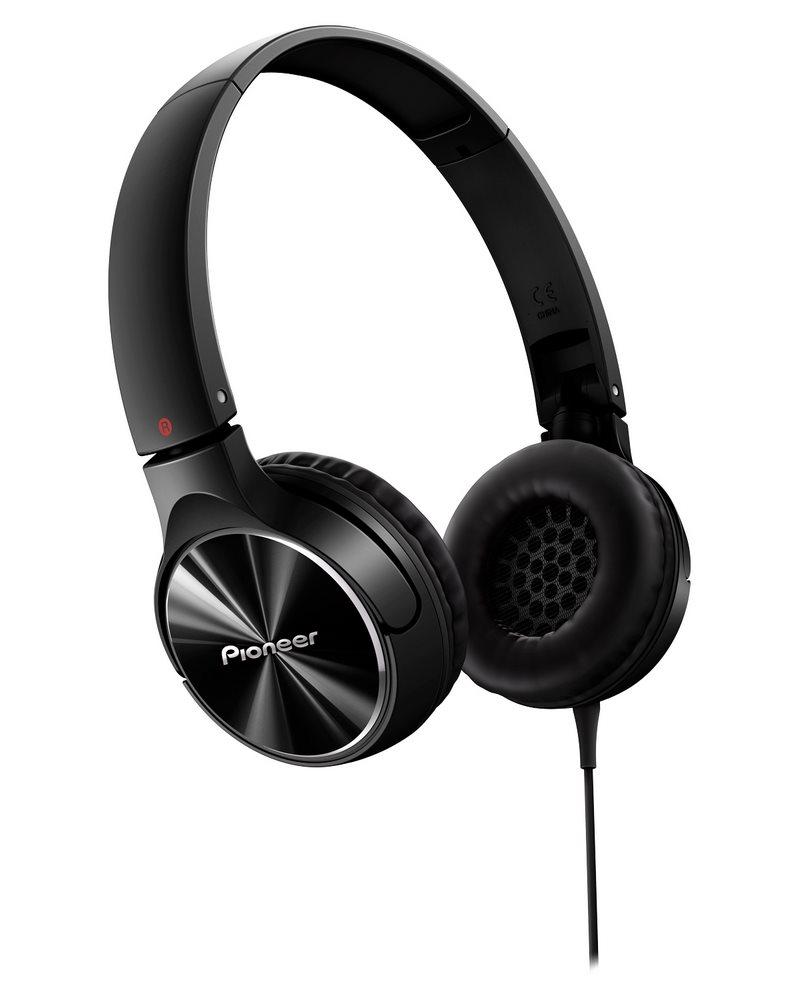 Sluchátka PIONEER SE-MJ532-K Sluchátka, náhlavní, uzavřená, 10Hz-30kHz, 32ohm, 1000mW, 105dB, 115g, měnič 40mm, kabel 1.2m, černá SE-MJ532-K