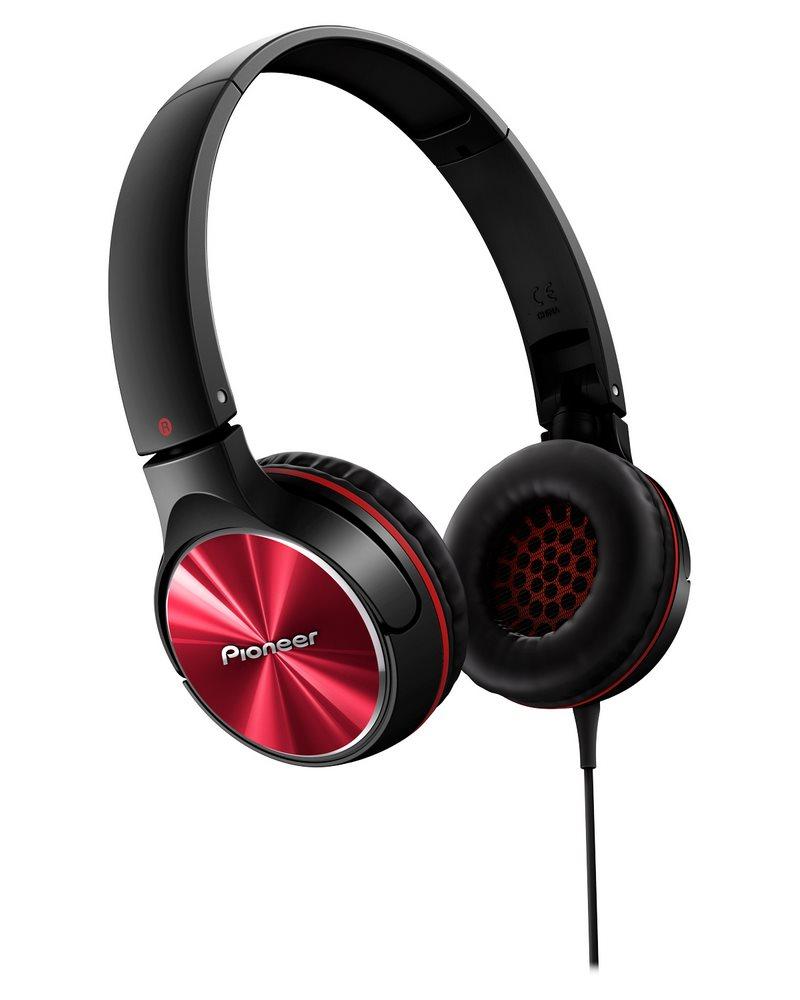 Sluchátka PIONEER SE-MJ532-R Sluchátka, náhlavní, uzavřená, 10Hz-30kHz, 32ohm, 1000mW, 105dB, 115g, měnič 40mm, kabel 1.2m, červená SE-MJ532-R