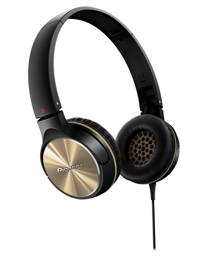 Sluchátka PIONEER SE-MJ532-N Sluchátka, náhlavní, uzavřená, 10Hz-30kHz, 32ohm, 1000mW, 105dB, 115g, měnič 40mm, kabel 1.2m, zlatá SE-MJ532-N