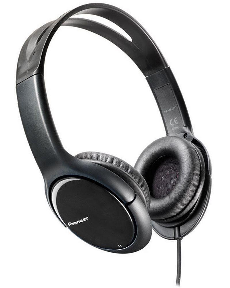 Sluchátka PIONEER SE-MJ711-K Sluchátka, náhlavní, uzavřená, 10Hz-25kHz, 32ohm, 1000mW, 102dB, 115g, měnič 40mm, kabel 1.2m, černá SE-MJ711-K
