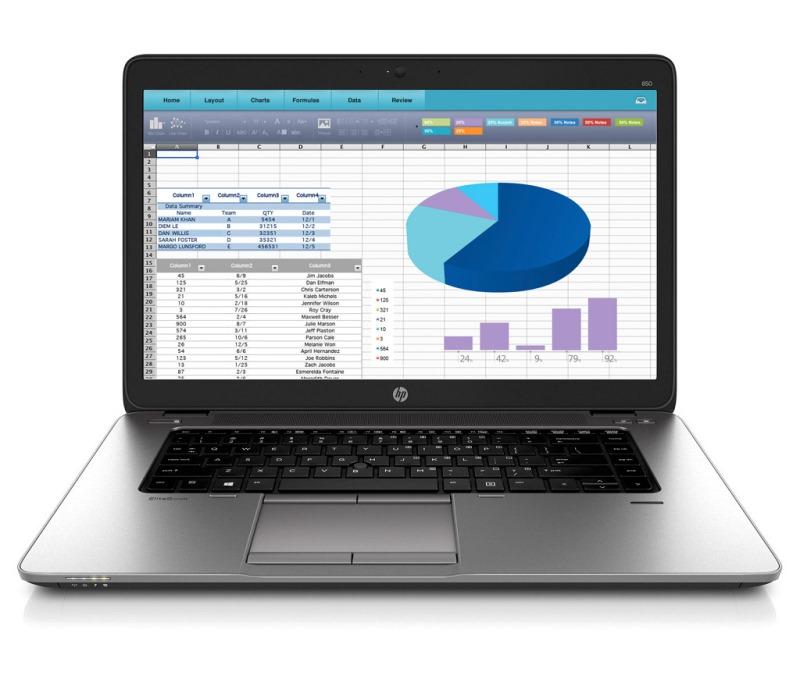 Notebook HP EliteBook 850 G2 Notebook, i7-5500U, 8GB, 512GB SSD, AMD_R7_M260DX, 1GB, 15,6 FHD CAM,ac, BT, FpR, 3C LL batt, W10 Pro downg N6Q64EABCM