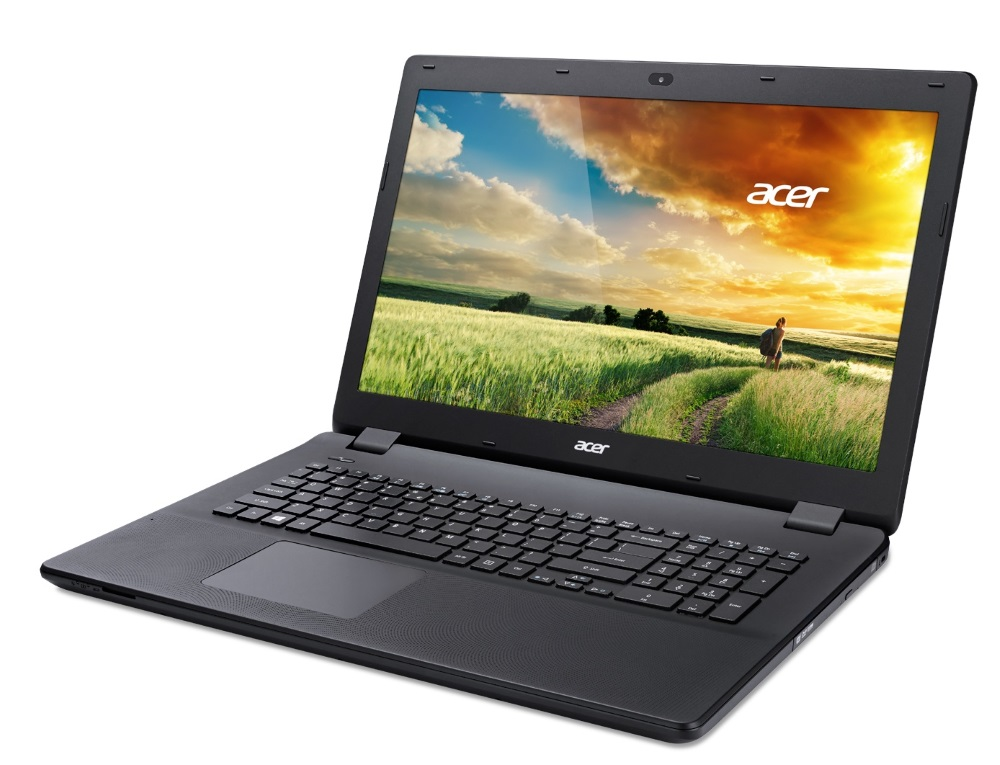 Notebook Acer Aspire ES 17 Notebook, Pentium N3700, 4 GB ,1 TB ,DVD RW, GeForce 910M 2 GB,17.3 HD+lesklý, BT, W10 Home, černý NX.MZTEC.002