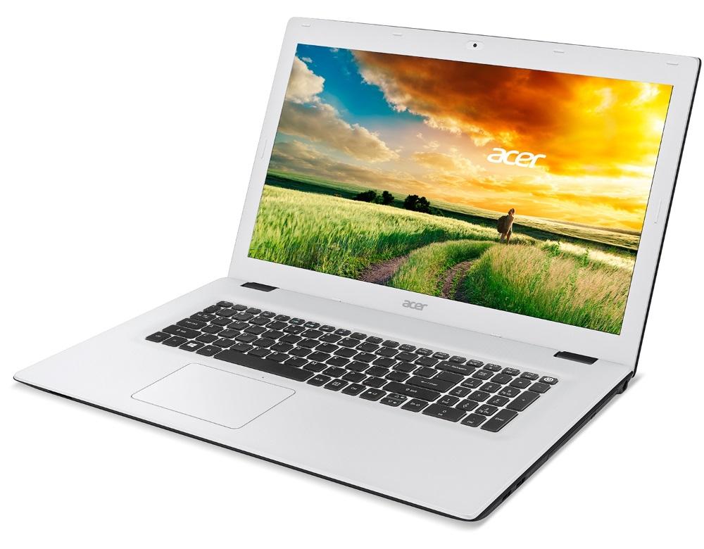 Notebook Acer Aspire E 17 Notebook, i3-5005U, 4 GB, 1 TB, DVDRW, HD Graphics, 17.3 FHD matný, BT, W10 Home, bílý NX.MVFEC.002