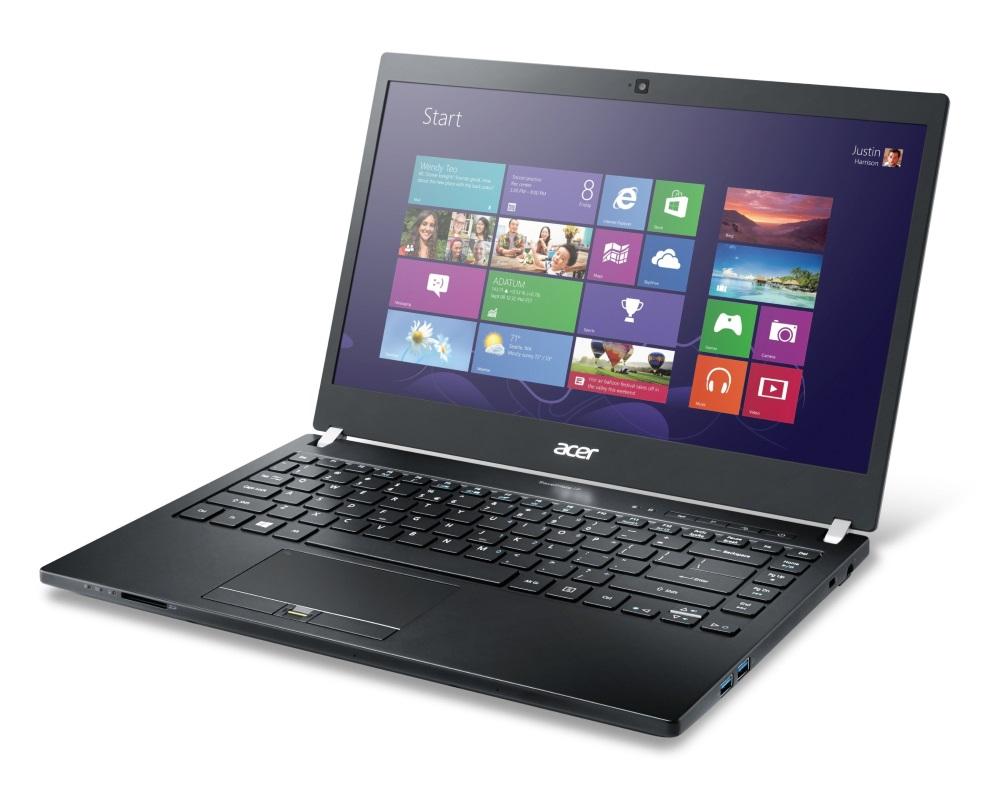 Notebook Acer TravelMate P645-S Notebook, i5-5200U, 4 GB + 4 GB, 256 GB SSD, 14FHD LCD, 3G, BT, Win 7 Pro + Win 8.1 Pro, Carbon, černý NX.VAFEC.002
