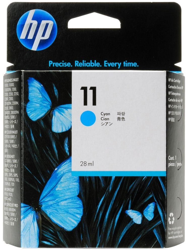 HP (11) C4836AE - ink. náplň azurová, DJ 2200/2250C originál