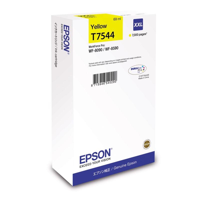 Inkoustová náplň Epson C13T754440 žlutý Inkoustová náplň pro Epson WorkForce Pro WF-8090, WF-8090D3TWC, WF-8090DTW/ WF-8090DW/ WF-8590, WF-8590D3TWFC, WF-8590DTWF, WF-8590DWF, 7000 stran C13T754440