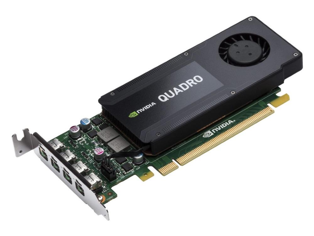 Grafická karta HP NVIDIA Quadro K1200 4GB Grafická karta, PCI-E, 4xmDP, pro Low Profile T7T59AA