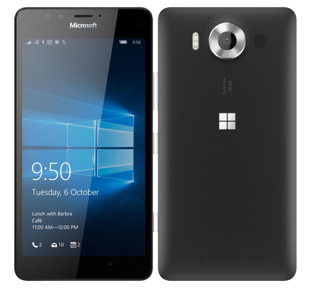 Mobilní telefon Microsoft Lumia 950 Mobilní telefon, dotykový, 5.2 AMOLED, 3GB RAM, 32GB, Win10, černá A00026403
