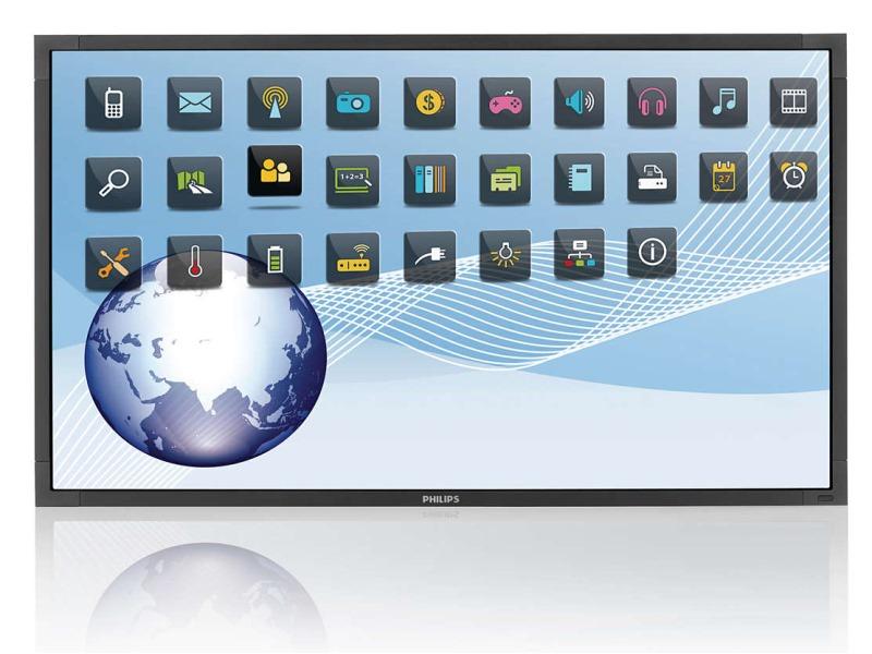 LED displej PHILIPS BDL6526QT 65 LED displej, dotykový, FHD, 1920x1080, VA, 16:9, 8ms, 350cd/m2, DP, HDMI, DVI, D-SUB, USB, OPS, Repro, VESA BDL6526QT/00