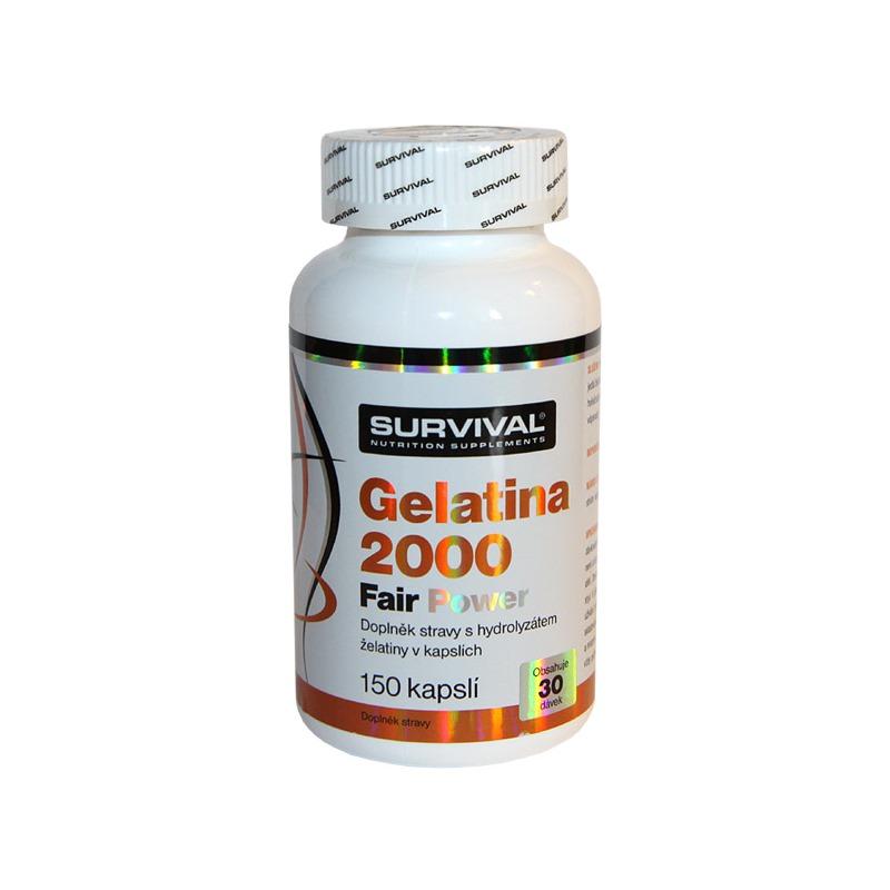 Doplněk stravy SURVIVAL Gelatina 2000 Fair Power Doplněk stravy, 150 kapslí 8594056370153