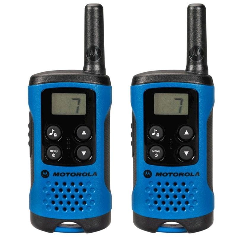 Vysílačka Motorola TLKR T41 modrá Vysílačka, dosah až 4 km, 2 vysílačky v balení, modrá barva - OPRAVENÉ OTVMOT100009V