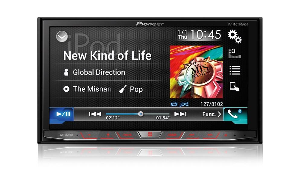Autorádio PIONEER AVH-X8700BT Autorádio, 7 dotykový WVGA, 2x USB, Bluetooth, MP3, HDMI, Mixtrax, Siri, MirrorLink, RGB podsvětlení AVH-X8700BT