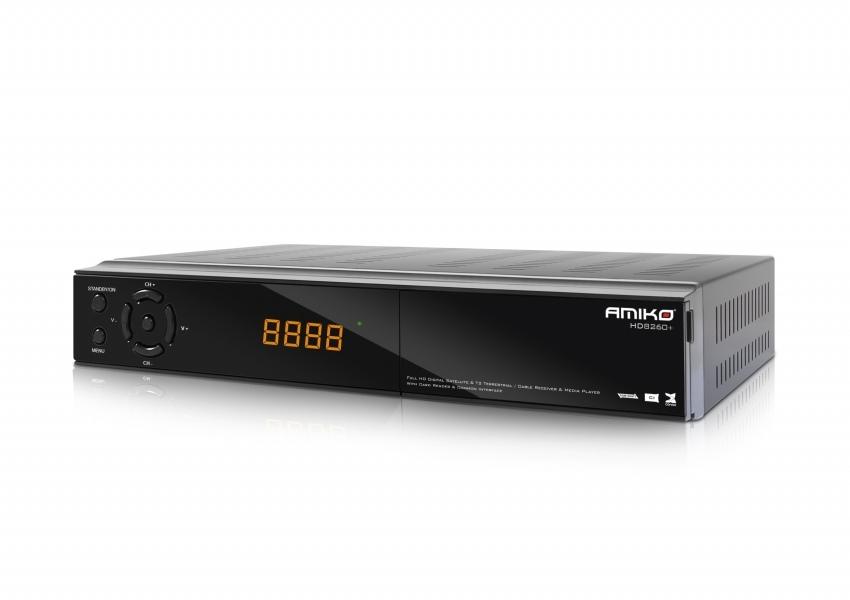 Satelitní přijímač Amiko HD 8260+ Satelitní přijímač, CICXE, Full HD, čtečka UNI, S,PDIF, EPG, PVR, RS232, HDMI, USB, SCART, LAN DBKAMHC114
