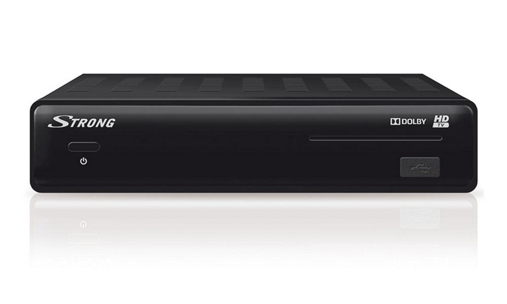 Satelitní přijímač STRONG SRT 7504 Irdeto Satelitní přijímač, Full HD, S/PDIF, Timeshift, napájení 12 V, HDMI, USB, SCART SRSRT7504