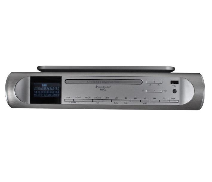 Rádio Soundmaster UR2170SI Rádio, kuchyňské, CD, USB, MP3, stříbrná barva UR2170SI