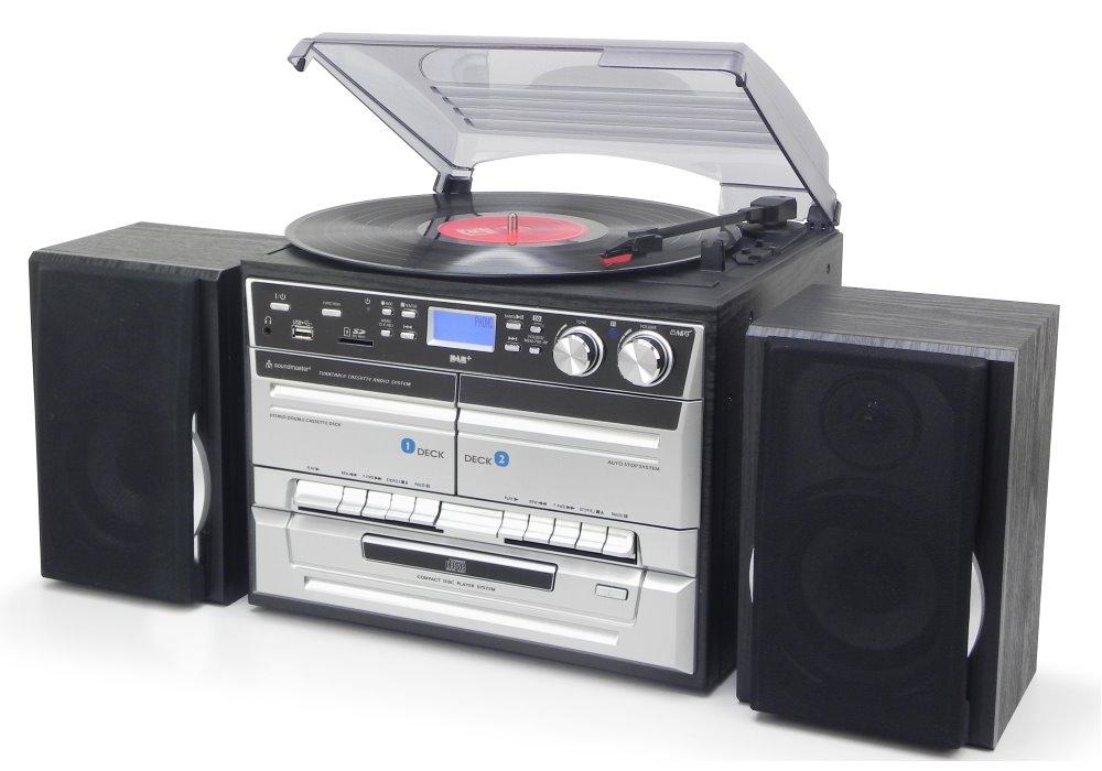 Multimediální centrum Soundmaster MCD5500SW Multimediální centrum, AM/FM, CD, MP3, 2x kazeta, záznam na USB/CD, DO, černé MCD5500SW