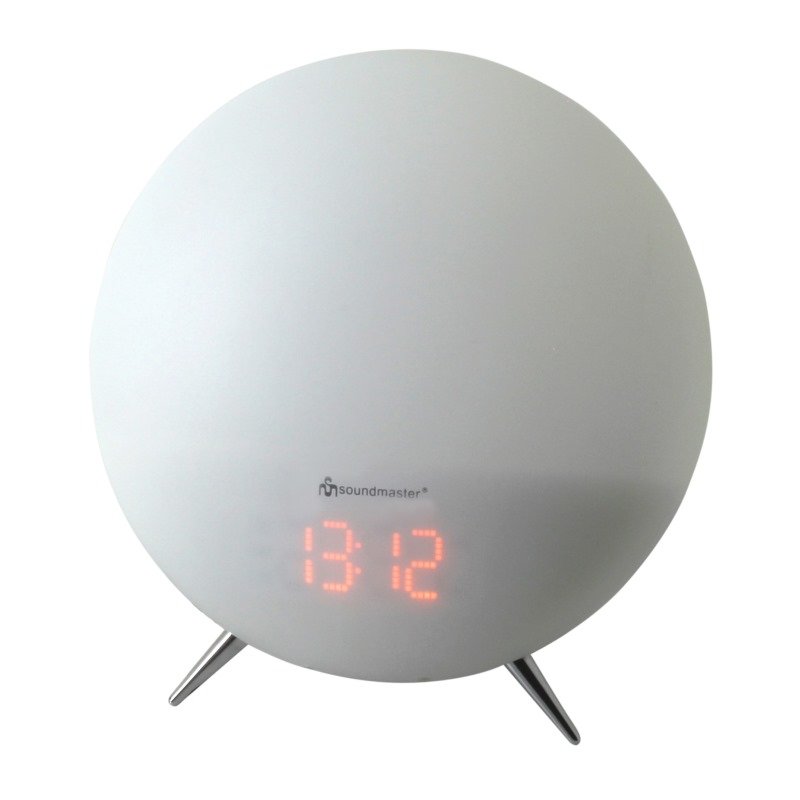 Radiobudík Soundmaster UR220WE Radiobudík s osvětlením dle nálady a vnitřní teploty, FM, LED, bílý UR220WE