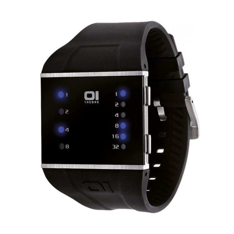Binární hodinky The One SLS102B3 Binární hodinky, ocel, kaučuk, unisex SLS102B3