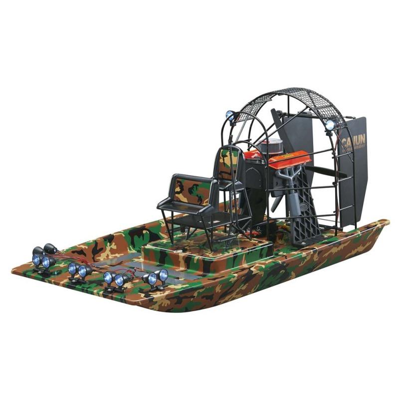 RC vznášedlo HOBBICO Cajun Commander Airboat 2.4 RC vznášedlo, 12 LED, Brushless motor, LiPo baterie AQUB5722