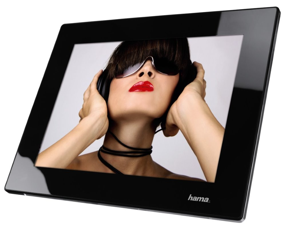 Digitální fotorámeček HAMA Premium Pulsar 9,7 Digitální fotorámeček, LED, 24,6 cm 9,7, 4:3, 2GB, SD/SDHC/MMC, černý 95249