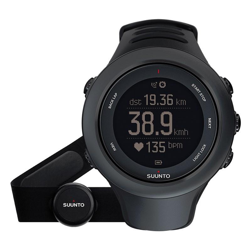 Sportovní hodinky Suunto Ambit3 Sport HR černé Sportovní hodinky, senzor srdečního tepu, funkce stopky, osvětlení, tréninkové funkce, alarm, GPS, černá barva SS020678000