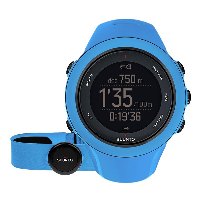 Sportovní hodinky Suunto Ambit3 Sport HR modré Sportovní hodinky, senzor srdečního tepu, funkce stopky, osvětlení, tréninkové funkce, alarm, GPS, modrá barva SS020679000