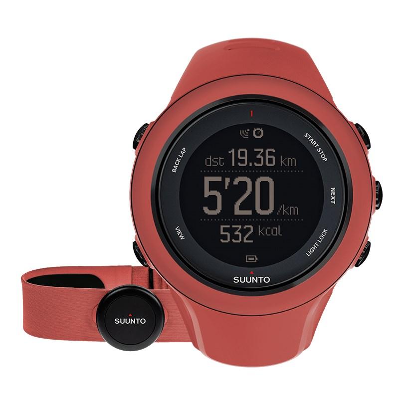 Sportovní hodinky Suunto Ambit3 Sport HR červené Sportovní hodinky, senzor srdečního tepu, funkce stopky, osvětlení, tréninkové funkce, alarm, GPS, červená barva SS021469000