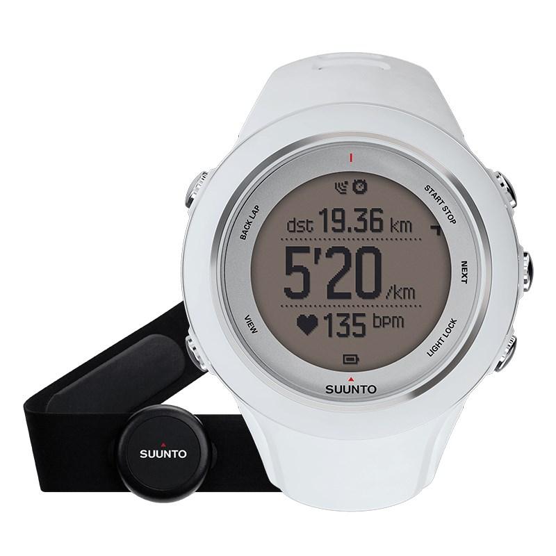 Sportovní hodinky Suunto Ambit3 Sport HR bílé Sportovní hodinky, senzor srdečního tepu, funkce stopky, osvětlení, tréninkové funkce, alarm, GPS, bílá barva SS020680000