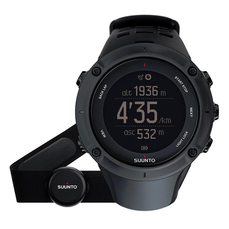 Sportovní hodinky Suunto Ambit3 Peak HR černé Sportovní hodinky, senzor srdečního tepu, funkce stopky, osvětlení, tréninkové funkce, počasí, alarm, GPS, černá barva SS020674000