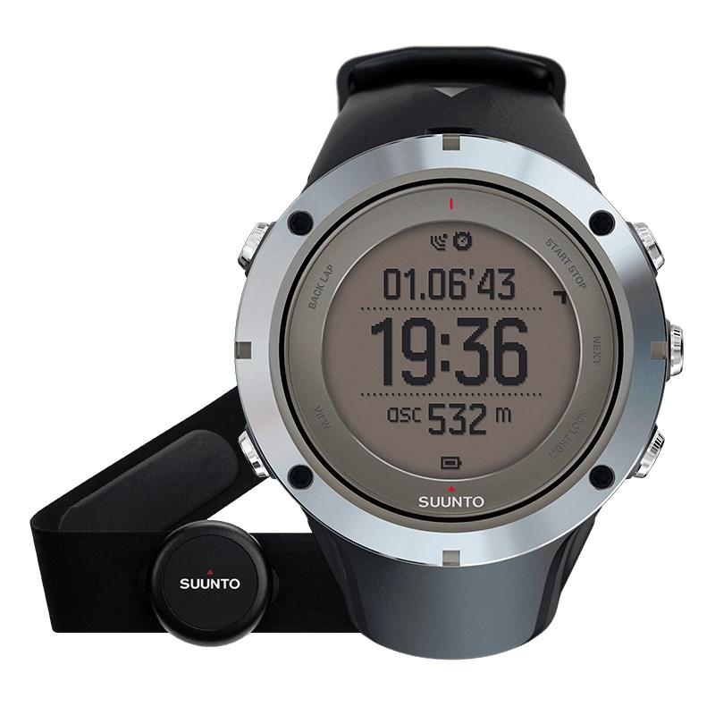 Sportovní hodinky Suunto Ambit3 Peak HR černé Sportovní hodinky, senzor srdečního tepu, safírové sklo, funkce stopky, osvětlení, tréninkové funkce, počasí, alarm, GPS, černá barva SS020673000