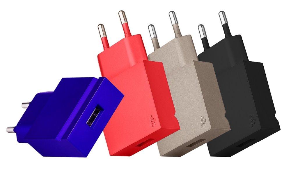 Nabíječka usbepower POP modrá Nabíječka, USB, kovově modrá