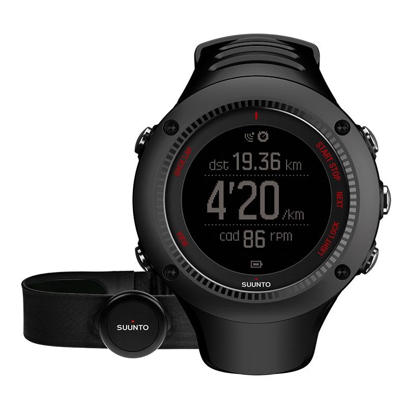 Sportovní hodinky Suunto Ambit3 Run HR černé Sportovní hodinky, senzor srdečního tepu, funkce stopky, osvětlení, tréninkové funkce, alarm, GPS, černá barva SS021257000