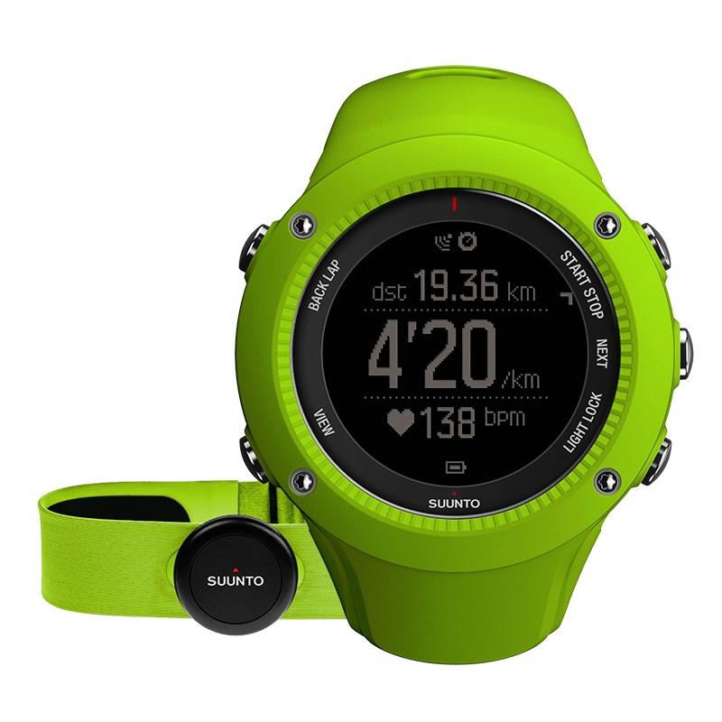 Sportovní hodinky Suunto Ambit3 Run HR zelené Sportovní hodinky, senzor srdečního tepu, funkce stopky, osvětlení, tréninkové funkce, alarm, GPS, zelená barva SS021261000