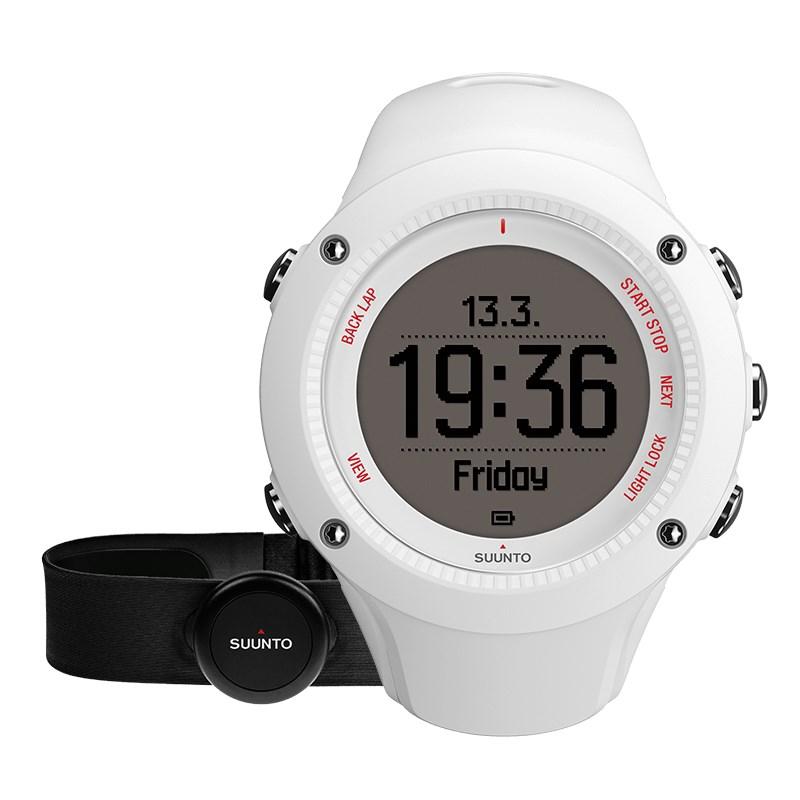 Sportovní hodinky Suunto Ambit3 Run HR bílé Sportovní hodinky, senzor srdečního tepu, funkce stopky, osvětlení, tréninkové funkce, alarm, GPS, bílá barva SS021259000