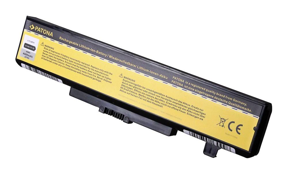 Baterie PATONA pro LENOVO 4400 mAh Baterie, pro notebook LENOVO B430, B480, B590, 4400mAh, Li-Ion,11,1V PT2376