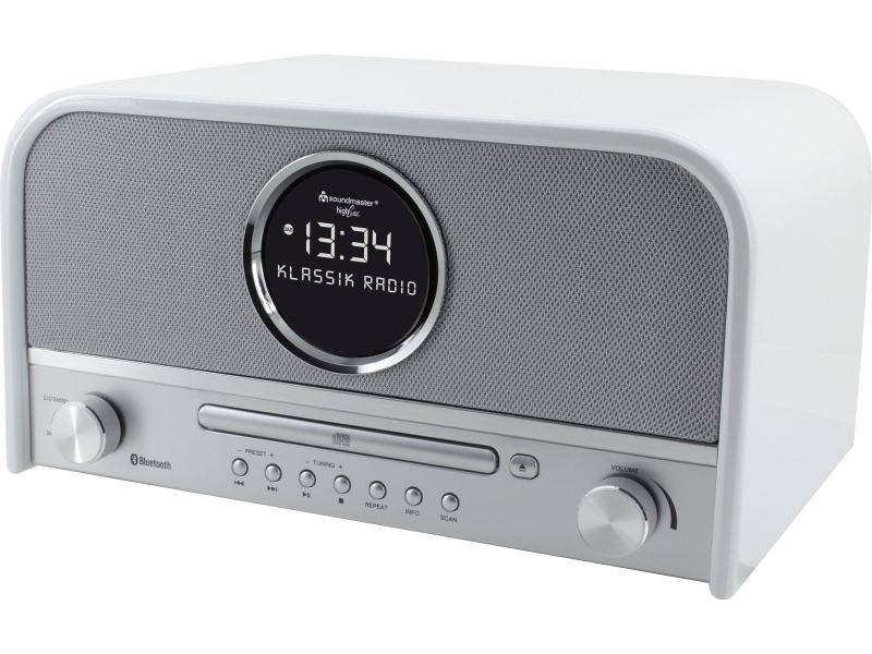 Rádio Soundmaster NR850 Rádio, USB, FM, CD, BT, DAB+, retro design v bílé barvě NR850WE
