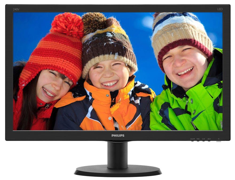 LED monitor PHILIPS 240V5QDAB 24 LED monitor, 1920x1080, ADS-IPS, 16:9, 5ms, 250cd/m2, HDMI, DVI, D-SUB, Repro, VESA 100x100 240V5QDAB/00