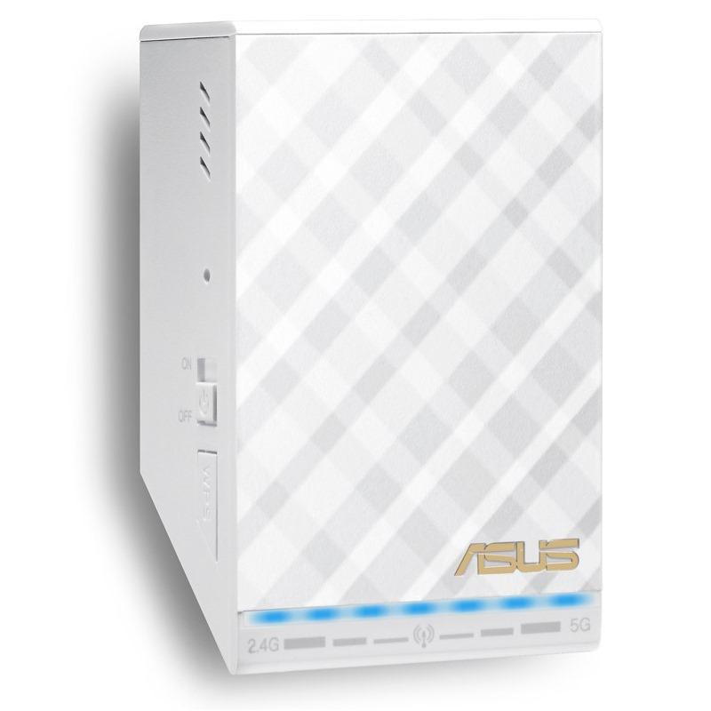Access point ASUS RP-AC52 Access point, 802.11a/b/g/n/ac, 2.4 a 5GHz,1x WAN 10/100,bílý 90IG00T0-BM0N10