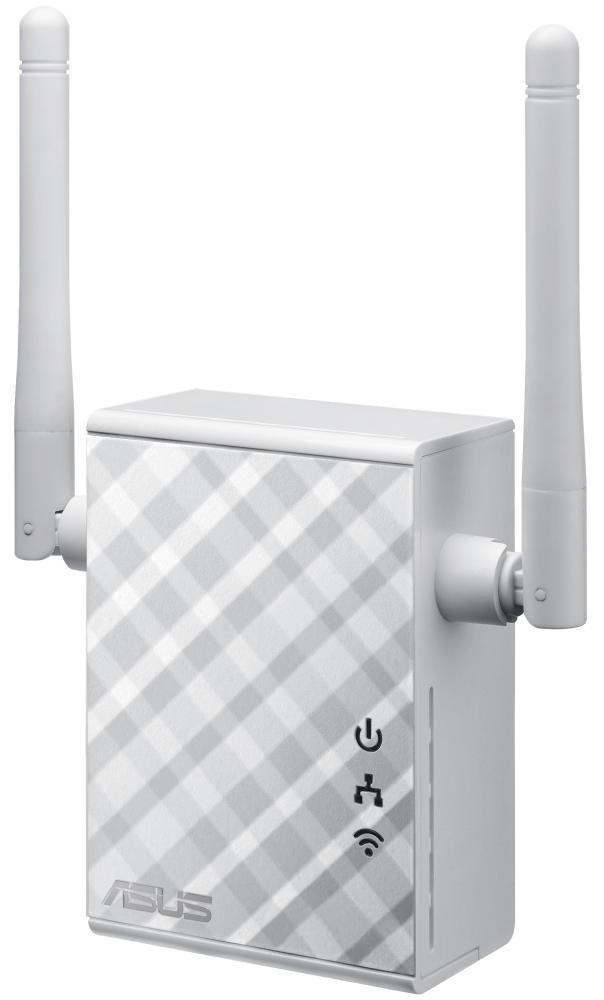 Access point ASUS RP-N12 Access point, 802.11b/g/n, 2 x 2 dBi anténa, 1x LAN 10/100, bílý 90IG01X0-BO2100
