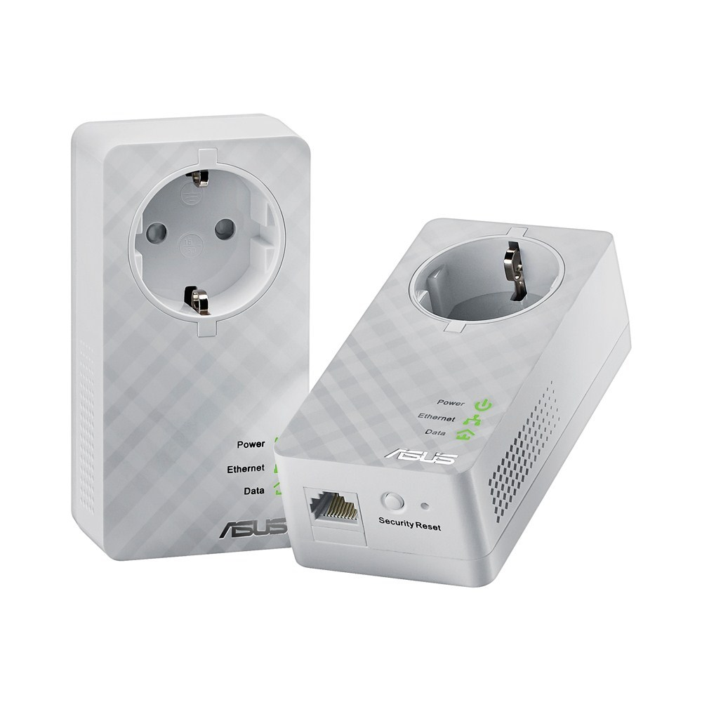 HomePlug ASUS PL-E52P Duo Homeplug, AV, IEEE 802.3, IEEE802.3u 90IQ0070-BM0000