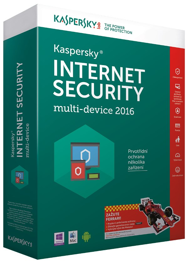 Antivir Kaspersky Internet Security 2016 CZ